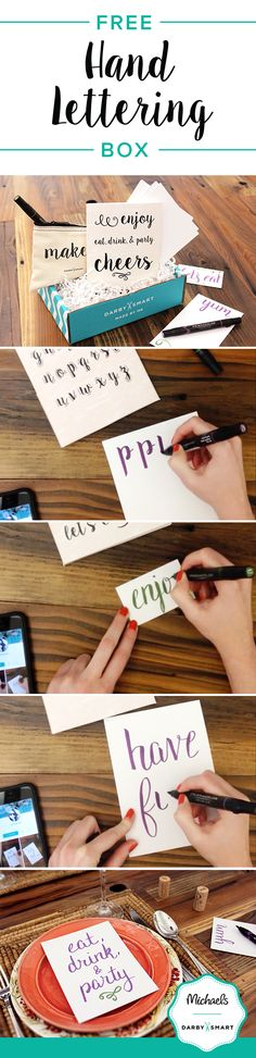 Learn How to Hand Letter with this Free Hand Lettering Box - We partnered with @michaelsstores to bring you a hand lettering starter box. Click to learn how to get your box free
