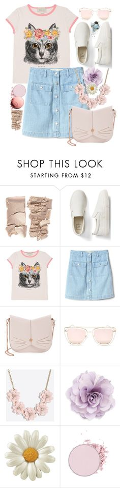 """""""Untitled #773"""" by atarituesday ❤ liked on Polyvore featuring Gap, Gucci, Ted Baker, Quay, J.Crew and Cara"""