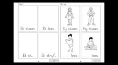 Image result for afrikaans first additional language grade 1 worksheets 1st Grade Worksheets, School Worksheets, Grade 1, First Grade, Afrikaans, Language, Image, First Class, Speech And Language