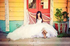 Wedding, Bride , cowboy boots    https://www.facebook.com/sarahmattixphotographer