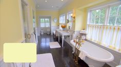 this is either Cream Yellow or Melted Butter by Behr, not sure which #kitchencolor