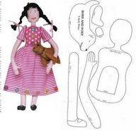 muñeca antigua de manta