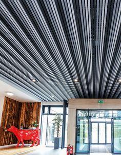 Hunter Douglas, Ceilings, Acoustic, Design Inspiration, Curtains, House, Home Decor, Interiors, Layout Inspiration