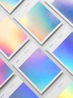 Studio, print, cover, foil in Book design with gradient pastels