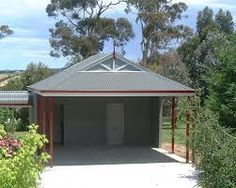 Double Single Carports, Steel Carport Garage with Pergola. Call us today on 1800 601 An ideal way to look after your car and add value to your home. Metal Carport Kits, Aluminum Carport, Carport Sheds, Carport With Storage, Carport Garage, Pergola Carport, Detached Garage, Storage Sheds, Carport Designs