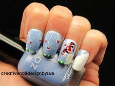 Creative Nail Design by Sue christmas #nail #nails #nailart