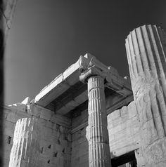athens, greece may 1959 Acropolis, Ancient Ruins, Athens Greece, Europe, Black And White, Artwork, Photographs, Life, Vintage