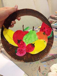 New fruit basket painting art ideas Toddler Art, Toddler Crafts, Crafts For Kids, Arts And Crafts, Paper Crafts, Fruit Crafts, Food Crafts, Fruit Art Kids, Vegetable Crafts