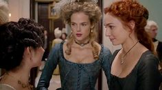 Gabriella Wilde as Caroline, Eleanor Tomlinson as Demelza and Ruby Bentall as Verity in Poldark S3.