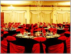 Reception hall will turn into a wonderful place decorating with wedding reception decoration ideas red and black junglespirit Image collections
