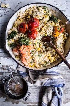 Brown Butter Lobster, Sweet Corn, and Fontina Risotto