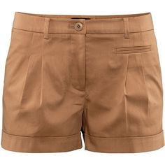 See this and similar H&M shorts - 5-pocket shorts in stretch cotton satin with box pleats at the front and sewn-in turn-ups at the hems. Details 2% elastane, 98...