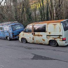 T4 Camper, Campers, Van Signage, Vw T4 Transporter, Rat Look, Vanz, Cool Vans, Rusty Cars, Busse