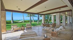 Gorgeous outdoor living space on the North Shore. | Honolulu Magazine: Stunning $22,000,000 - Real Estate - April 2013.