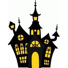 Haunted House Silhouette, part 1 - I think I'm in love with this shape from the Silhouette Design Store! Sac Halloween, Halloween Arts And Crafts, Halloween Haunted Houses, Diy Halloween Decorations, Halloween Cards, Holidays Halloween, Happy Halloween, Halloween Pumpkins, Halloween Witches