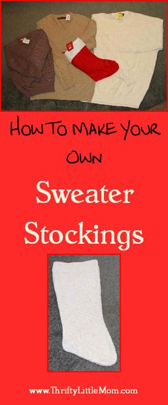 Great tutorial on how to make Christmas stockings from old sweaters. For those of you who enjoy Christmas-y things.