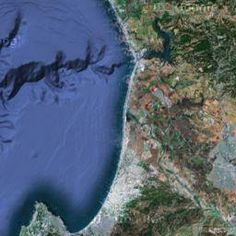 Map of the FLOOR of the Monterey Bay Google Maps