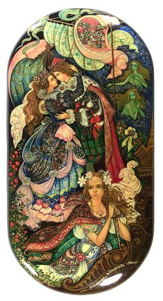Little Mermaid (2011) from Palekh by Vera Smirnova
