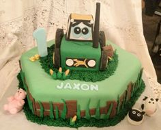 John Deere Tractor Cake was the hit of Jaxon's 1st Birthday Party