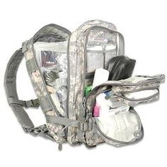 Medical Tactical Trauma Kit Backpack Army Digital 18x10x11'' Filled With First Aid Supplies