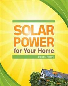 Easy, inexpensive, do-it-yourself solar energy projects. Featuring step-by-step instructions and useful photos and illustrations, this hands-on guide is filled with solar energy solutions you can put to use right away. Solar Power for Your Home shows you how to set up a variety of simple, money-saving solar projects quickly and easily, such as a solar water heater, a solar pool pump, solar lighting, a solar oven--and even a solar-powered lawn mower!
