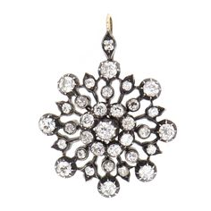 A Victorian diamond snowflake pendant, lot 39 in our Fine Art sale of 27th & 28th November 2019.