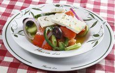 Healthy Mediterranean Recipes for People on the Go Horiatiki maria loi greek recipe Mediterranean Salad Recipe, Mediterranean Food, Greek Diet, Salad Recipes, Healthy Recipes, Greek Salad, Greek Recipes, Caprese Salad, Greek Yogurt