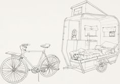 elsoplodeunavela:  Maked real: http://popupcity.net/2011/07/a-mini-camper-for-bicycle-riders/