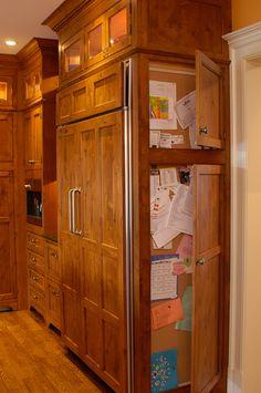 """Kitchen organization-add on to end of cabinets for mail, keys, calendar"" smaaaaaaart!"