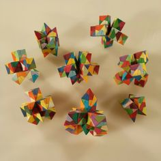 Some of my Sonobe Origami inventions.