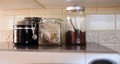 coffee bar display ideas - Google Search Bar Displays, Display Ideas, Coffee Service, Mason Jars, Google Search, Mason Jar, Glass Jars, Jars