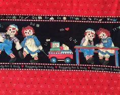 Daisy Kingdom Border Fabric Raggedy Ann Andy Back to School   eBay