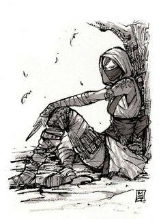 Assassin girl kunoichi by mycks 3d Fantasy, Art Drawings Sketches, Character Design Inspiration, Fantasy Characters, Drawing Reference, Art Inspo, Amazing Art, Character Art, Cool Art