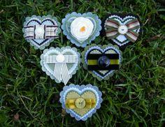 DIY brooches - heart shaped