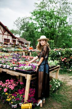 coachella inspiration / lemon print crop top / j crew panama hat, daniel wellington classic sheffield watch, for love and lemons limonada crop top, high waisted cut off jean shorts, free people sheer black slip, 1 state white pointed toe block heels / ragpepper.com / catherine truman photo