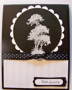 handmade sympathy card ... black and white ... like the bold look of the main elements ... Stampin' Up!