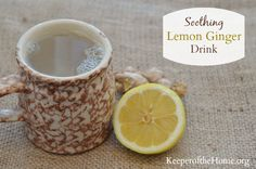When it comes to colds and congestion, ginger and lemon pack a powerful punch – so make up a batch of this soothing lemon ginger drink to get better! Ginger warms the body and is known to help with decongestion. It is also thought to boost circulation and the immune system. Lemon is high in vitamin C, has antibacterial properties, and is said to aid in breaking fevers and soothing sore throats.