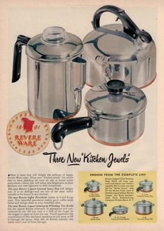 Nachrichten, «Revere Ware Parts News /. Old Advertisements, Retro Advertising, Retro Ads, Vintage Ads, Vintage Antiques, Vintage Items, Caravan Vintage, Home Remedies For Roaches, Pots And Pans Sets