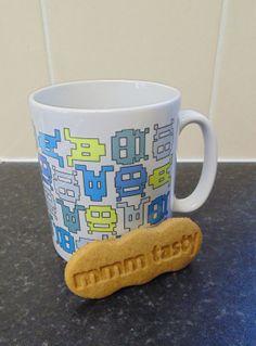 Retro Geek  Mug & Coaster Gift Set by JLWIllustration on Etsy, £11.00