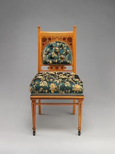 """George A. Schastey & Co. (1873–97). Side Chair, 1881–82. The Metropolitan Museum of Art, New York. Gift of The Museum of the City of New York, 2008 (2009.226.4) 