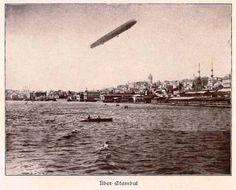Haliç semalarında Alman zeplini 1909