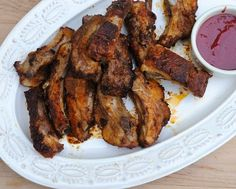 Baked Baby Back Ribs, oven-baked in 90 minutes with a spicy raspberry ...