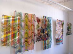Chloe Hamblin, 2011, her BA degree show which was part of receiving her Bachler of Arts with honors in Textile Design