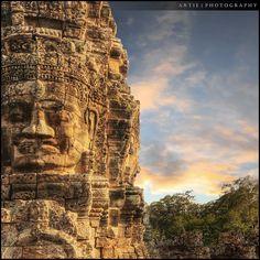 Bayon Temple in Angkor Thom . Siem Reap, Cambodia