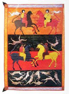 The Army Of Horsemen On Lion-Headed Horses, Facundus Beatus Codex, Beatus of Liébana, Spain