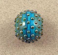 Evolving Turquoise Blue Mala Focal Lampwork Glass Bead by Shani Barrett SRA | eBay