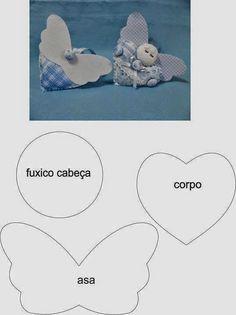 ARTE COM QUIANE - Paps,Moldes,E.V.A,Feltro,Costuras,Fofuchas 3D: Coração