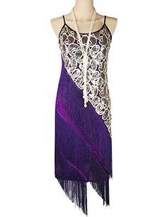 KAYAMIYA Women's 1920S Sequin Paisley Tassel Gatsby Flapper Dress XS Purple KAYAMIYA http://www.amazon.com/dp/B00UFJLGIQ/ref=cm_sw_r_pi_dp_QOouwb1XR4T67