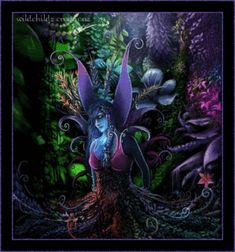 Fairy Friends 37 - Dark Fairy - Animated Fantasy Art - The Fairy Realm