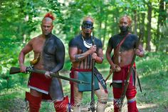 Eastern Woodland Indians. Native American War Party. Photo by David M. Doody